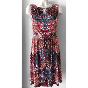 Ellen Tracy Dresses - ELLEN TRACY BELTED PRINTED DRESS SZ 14